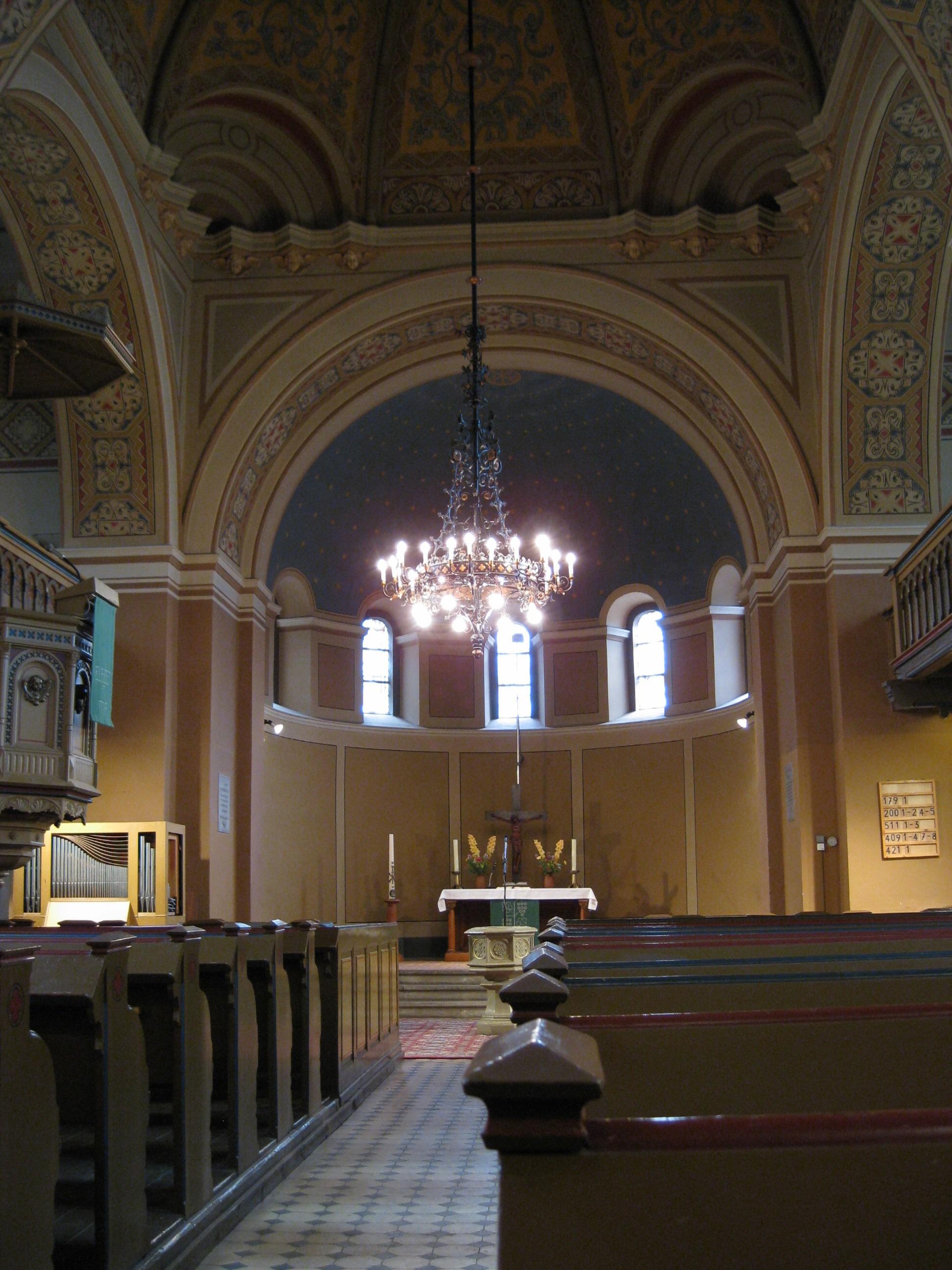 Der Innenraum der Friedenskirche