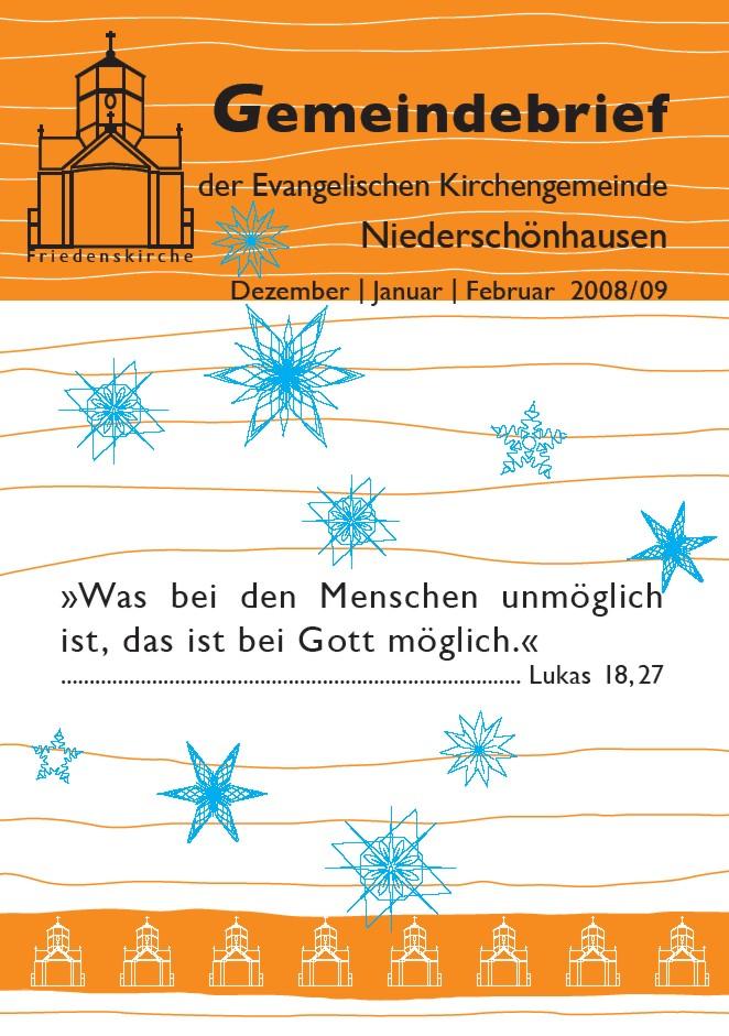 Titelseite des Gemeindebriefes