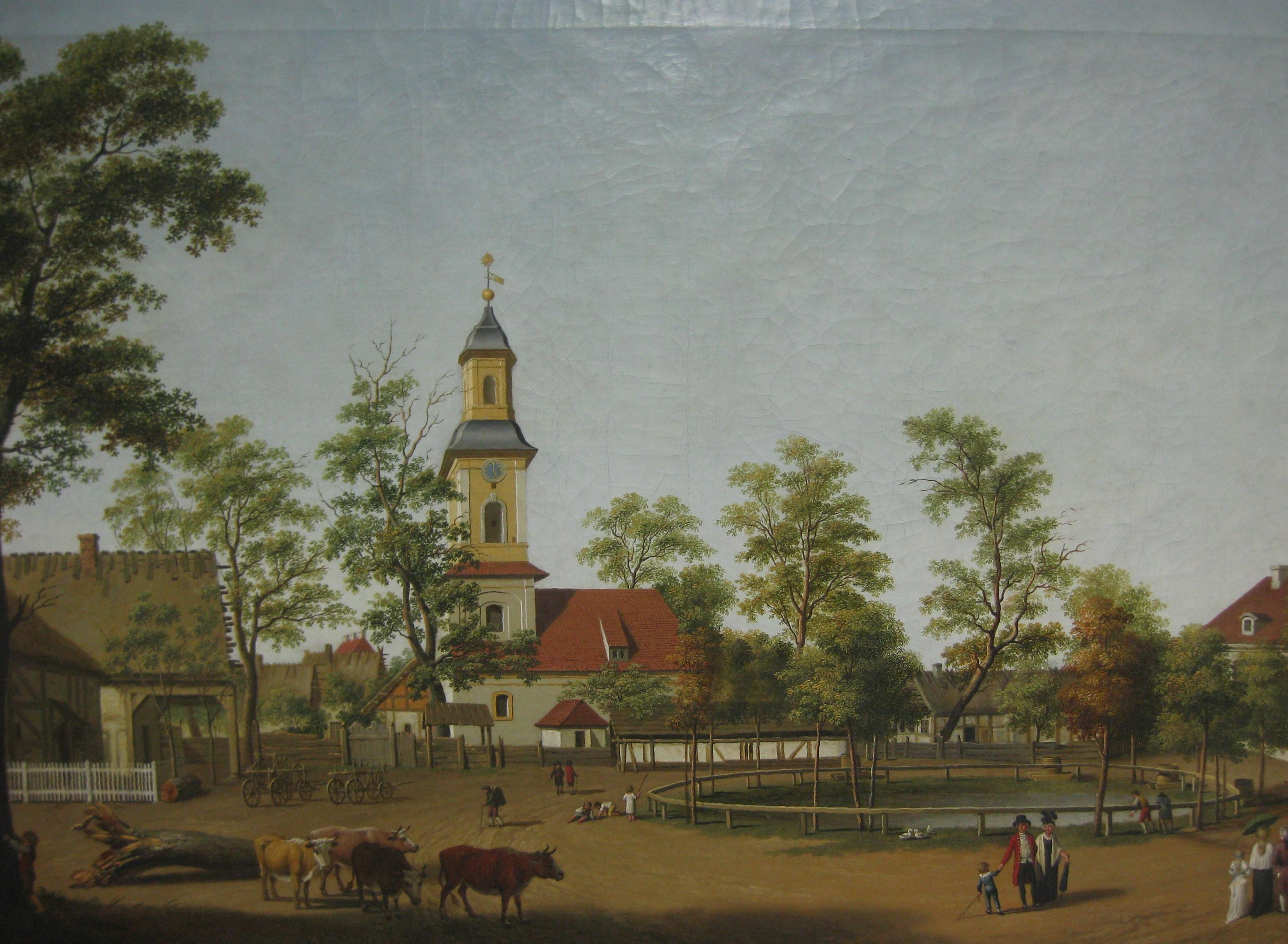 Gemälde der alten Friedenskirche
